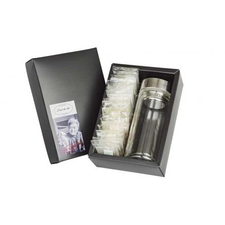 """Tea to Go"" Geschenkbox mit Sachets Crystal & Teatumbler 0.3 L/ 0.5 L"