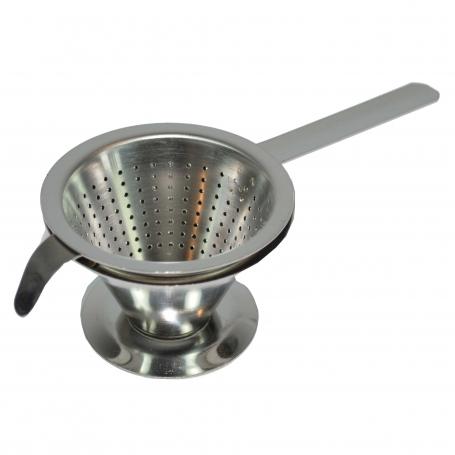 Tassenfilter Chromstahl mit Untersatz